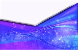 Lettera blu astratta Fotografia Stock