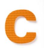 Lettera C fotografie stock