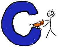 Lettera C royalty illustrazione gratis