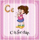 Lettera C illustrazione vettoriale