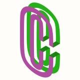 Lettera C Logo Icon Design Template Element Fotografie Stock