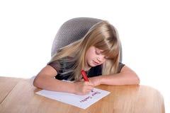 Lettera cara Girl3 della Santa Fotografia Stock Libera da Diritti