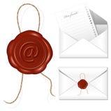 Lettera con la guarnizione della cera. Fotografia Stock