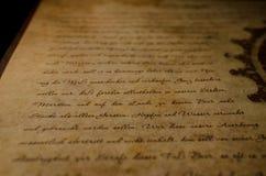 Lettera d'annata Fotografie Stock Libere da Diritti