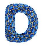 lettera D del diamante 3D su bianco isolato Fotografia Stock Libera da Diritti