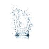 Lettera D dell'alfabeto dell'acqua Immagini Stock