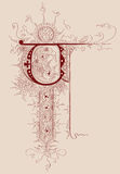 Lettera dal manoscritto Immagine Stock