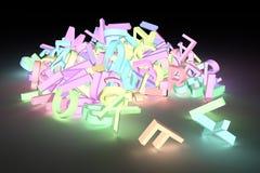 Lettera del carattere alfabetico di ABC Per progettazione grafica o backgr illustrazione vettoriale