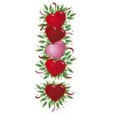 Lettera del cuore del biglietto di S. Valentino royalty illustrazione gratis