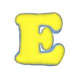 Lettera del cuscino di alfabeto Fotografia Stock