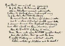 Lettera del manoscritto Fotografie Stock Libere da Diritti