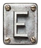 Lettera del metallo Fotografia Stock
