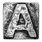 Lettera del metallo fotografie stock