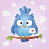 Lettera dell'uccello Fotografia Stock Libera da Diritti