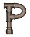 Lettera di alfabeto del tubo Immagini Stock