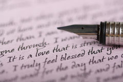 Lettera di amore Fotografia Stock
