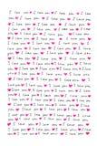 Lettera di amore Fotografie Stock Libere da Diritti