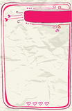 Lettera di amore del biglietto di S. Valentino Immagini Stock Libere da Diritti