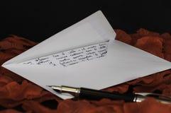 Lettera di amore - italiano di testo Fotografia Stock Libera da Diritti