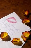 Lettera di amore - Liebesbrief Fotografie Stock