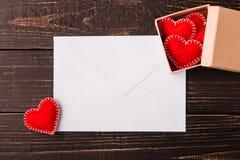 Lettera di amore per il giorno del ` s del biglietto di S. Valentino Fotografie Stock