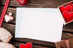 Lettera di amore per il giorno del ` s del biglietto di S. Valentino Fotografia Stock Libera da Diritti