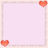 Lettera di carta del biglietto di S. Valentino Fotografie Stock Libere da Diritti
