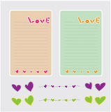 Lettera di carta di amore Fotografia Stock Libera da Diritti