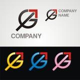 Lettera di GA con le frecce alte Immagine Stock
