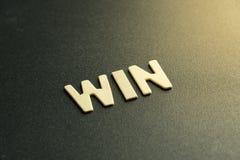 Lettera di legno di vittoria Immagine Stock