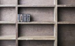 Lettera di legno org immagine stock