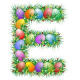 Lettera di Pasqua - E  immagini stock
