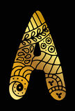 Lettera disegnata a mano del mosaico Immagine Stock