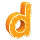 Lettera fatta dall'arancia Immagine Stock Libera da Diritti
