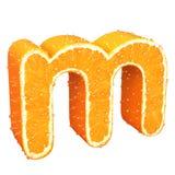 Lettera fatta dall'arancia Fotografie Stock