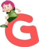 Lettera G (ragazza) di alfabeto illustrazione vettoriale
