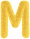 Lettera gialla simile a pelliccia Immagini Stock Libere da Diritti