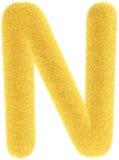 Lettera gialla simile a pelliccia Immagine Stock