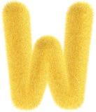 Lettera gialla simile a pelliccia Fotografia Stock