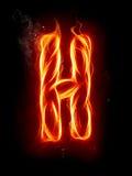 Lettera H del fuoco Fotografia Stock