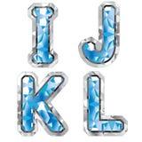 Lettera I J K L della gemma Fotografia Stock