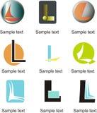 Lettera L logo Fotografia Stock
