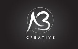 Lettera Logo Design della spazzola di ab Logo scritto a mano artistico C delle lettere royalty illustrazione gratis