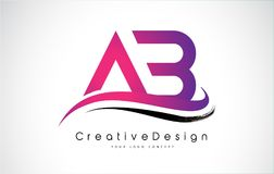 Lettera Logo Design di ab Logo moderno di vettore delle lettere dell'icona creativa Fotografia Stock Libera da Diritti