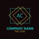 Lettera Logo Design Logo Design di CA Immagine Stock Libera da Diritti