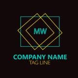 Lettera Logo Design Logo Design di Mw Fotografia Stock Libera da Diritti