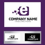 Lettera Logo Design Vector Business Card di E Fotografie Stock Libere da Diritti