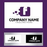 Lettera Logo Design Vector Business Card di F Fotografie Stock