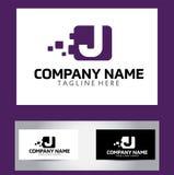 Lettera Logo Design Vector Business Card di J Fotografia Stock Libera da Diritti