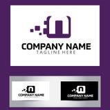 Lettera Logo Design Vector Business Card di N Immagini Stock